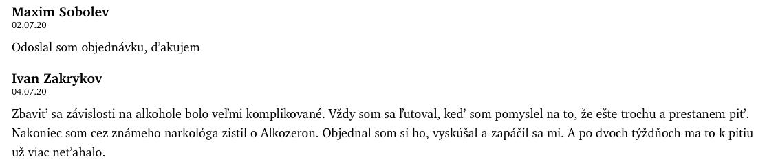 alkozeron-recenzia
